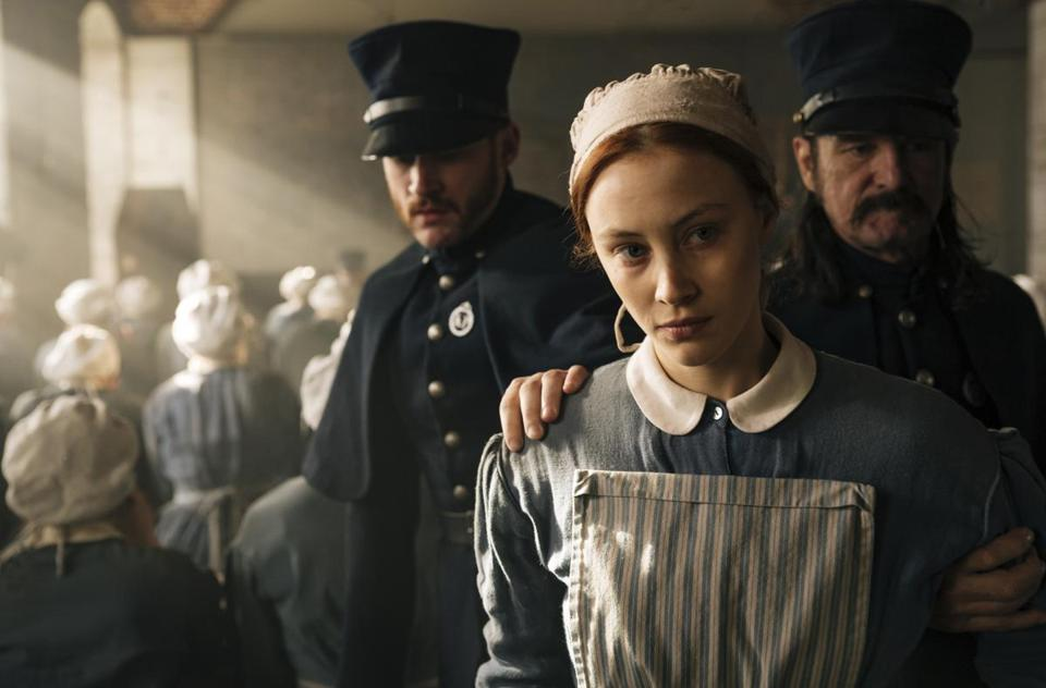 "Sarah Gadon stars in the new Netflix miniseries ""Alias Grace."""